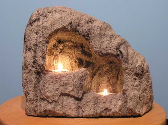 Floor Double Cave Candle Holder cc204