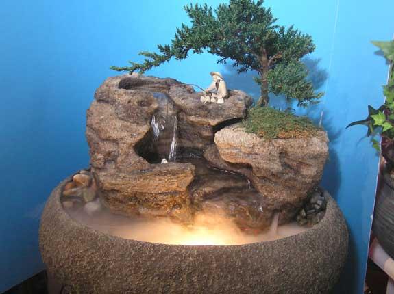 Live Bonsai Tabletop Fountain (Oval) cd137