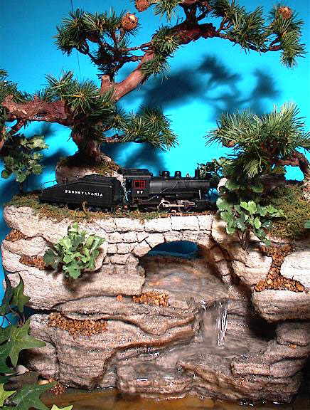 Train (HO Scale) (Large, Artificial Foliage) cd15