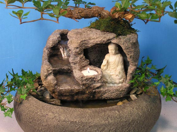 Buddha with candle fountain small cd76 natural creations cd76buddhalarge workwithnaturefo