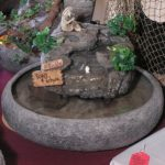 Indoor Mini Fish Pond (18″ Bowl/ Artificial Shrubbery) ss171