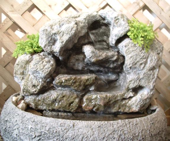 Medium Indoor Fountain w/ Live Plants #16