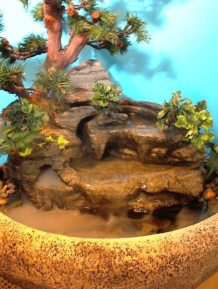 Tranquility tabletop fountain large cd37 natural creations for Japanese water feature for sale