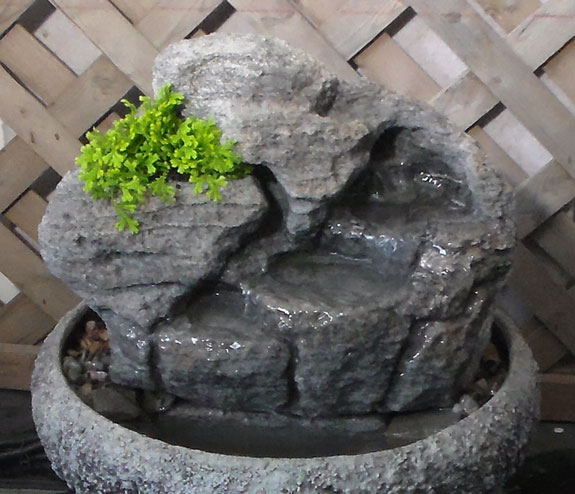 Small Indoor Fountain W/Live Plants #3