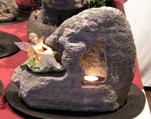 Fairy Cave Candle® (Volcanic Stone Candle Holder) #108