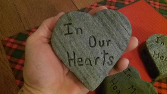 Memorial Grave Heart Stone 2