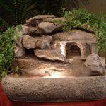Roman Temple With Live Plants #RTG52