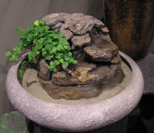 Fish Version Indoor Tabletop Fountain W Live Plants 47