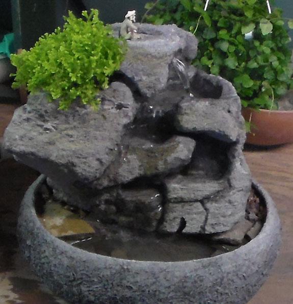 Medium Indoor Fountain w/ Live Plants #28