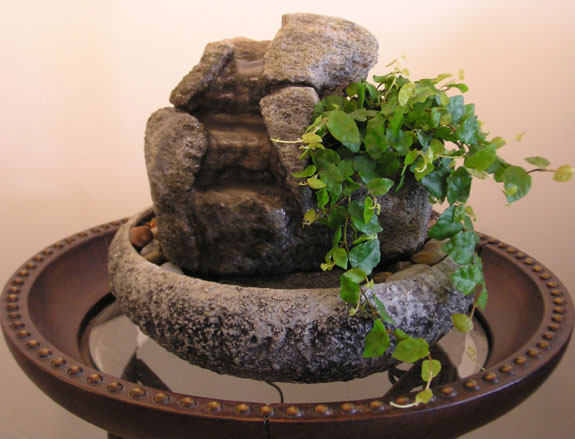 Small Indoor Fountain w/ Live Plants #13