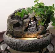Buddha Water Fountain w/ Live Plants #7
