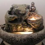 Buddha Water Fountain w/ Candle #9